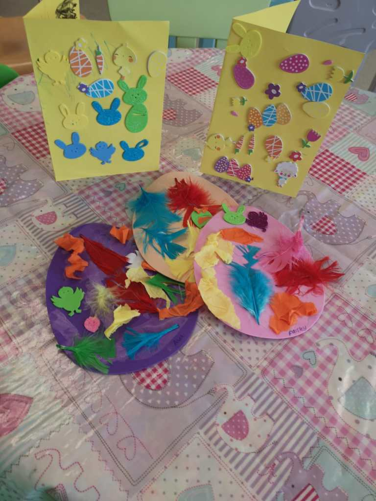 Easter cards and eggs made by PolkaDots children